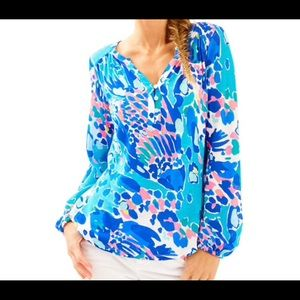 Lilly Pulitzer Lilias Tunic Top Shake It Up